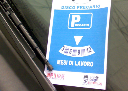 Disco Precario Guerrilla Marketing